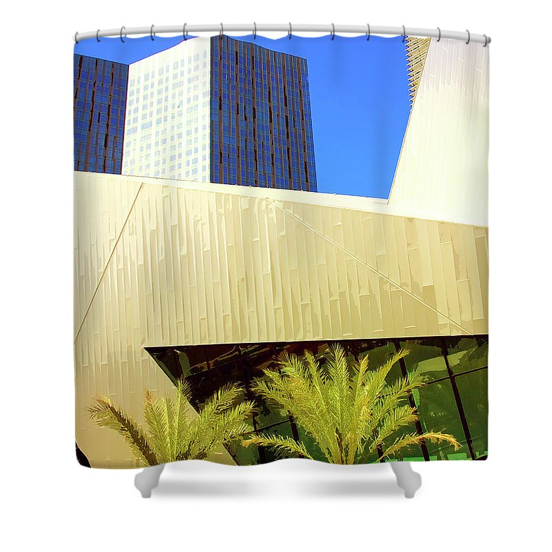Vegas Shower Curtain featuring the photograph Intersection 2 by William Dey