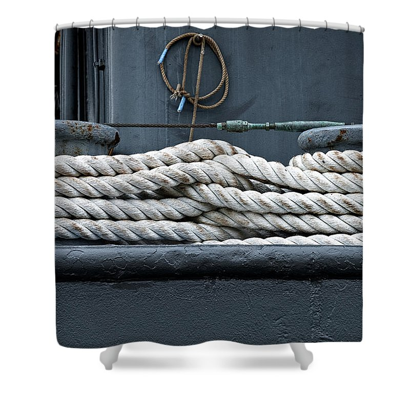 Rope Shower Curtain featuring the photograph Intertwined by Christopher Holmes