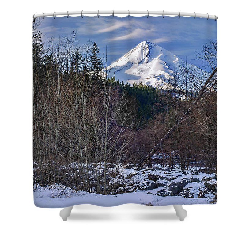 Volcano Shower Curtain featuring the photograph Intimate Hood by John Christopher