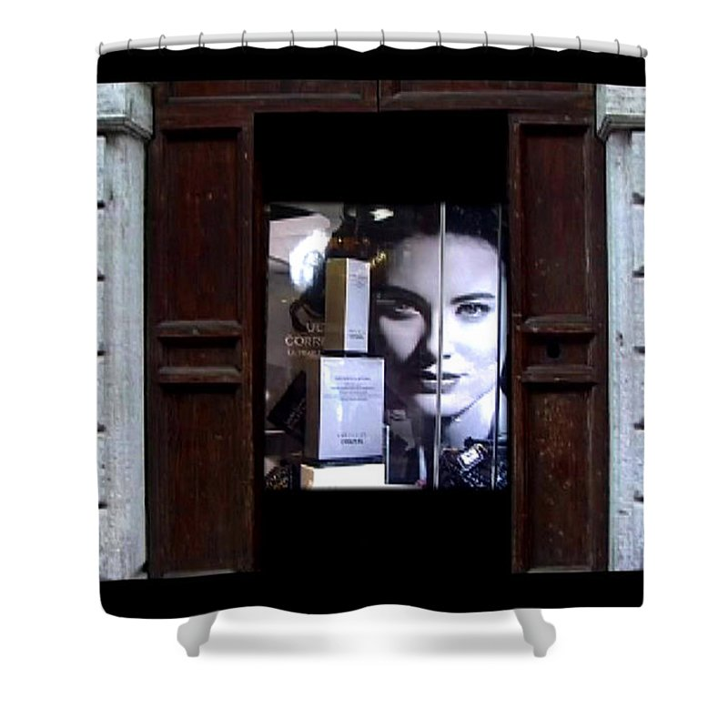 Dream Shower Curtain featuring the painting Into The Doorway by Charles Stuart