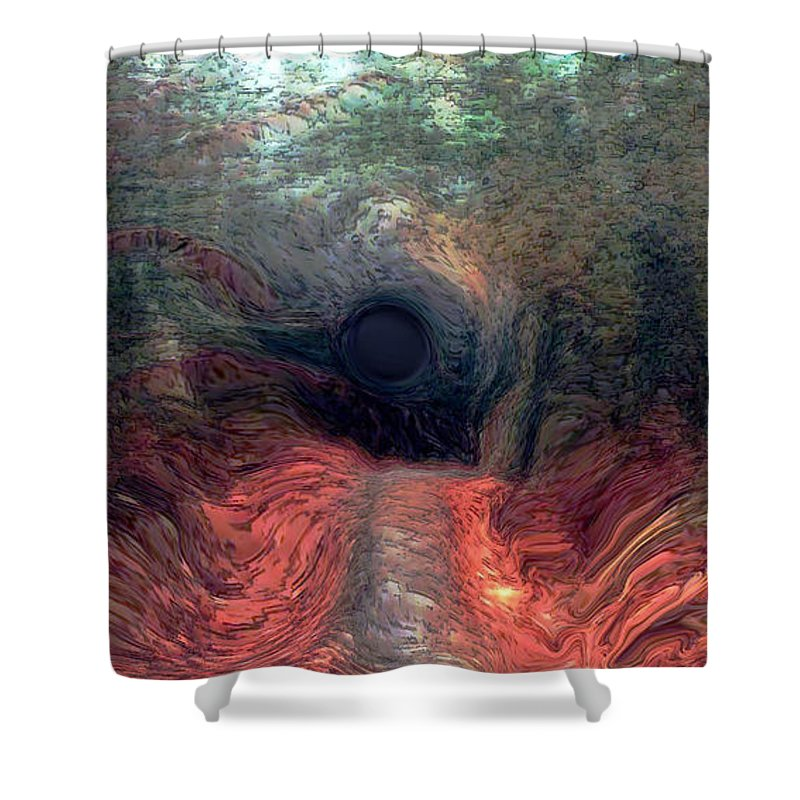 Forest Shower Curtain featuring the photograph Into The Forest by Linda Sannuti