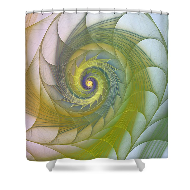 Fractal Shower Curtain featuring the photograph Into The Inner Kingdom by Deborah Benoit
