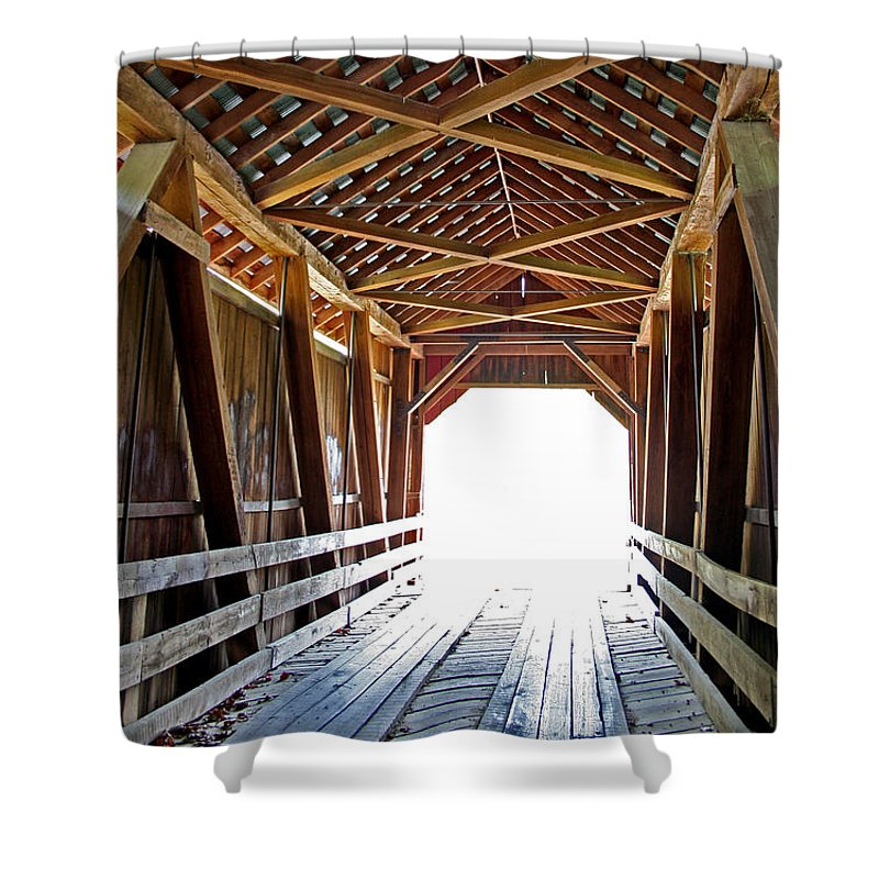 Light Shower Curtain featuring the photograph Into The Light by Margie Wildblood