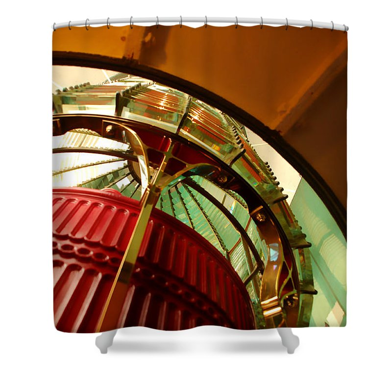 Lighthouse Shower Curtain featuring the photograph Into The Lighthouse by Donna Blackhall