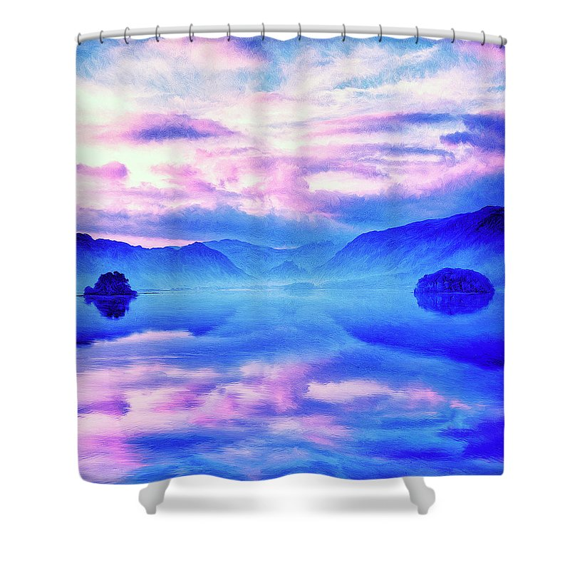 Into The Unknown Shower Curtain featuring the painting Into The Unknown by Dominic Piperata