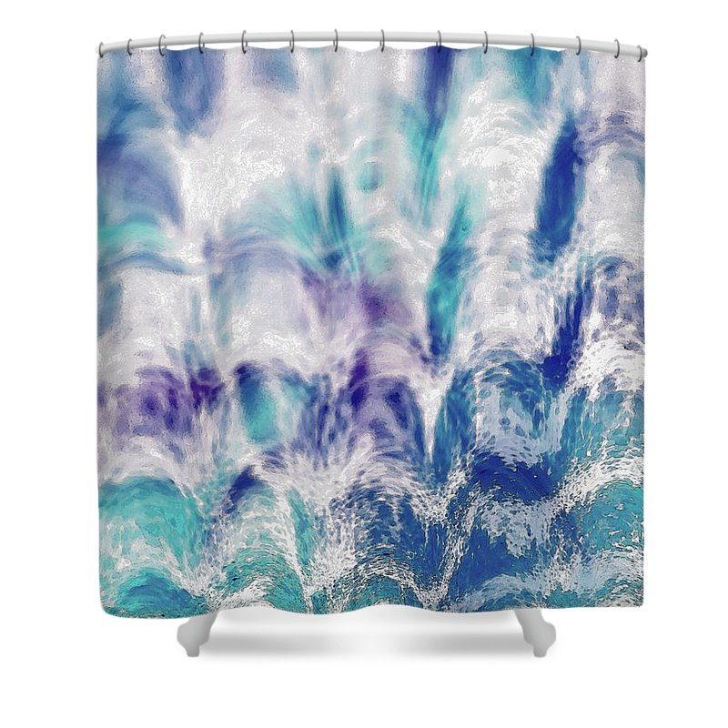Abstract Shower Curtain featuring the photograph Inverted Leaf by Michelle Miller