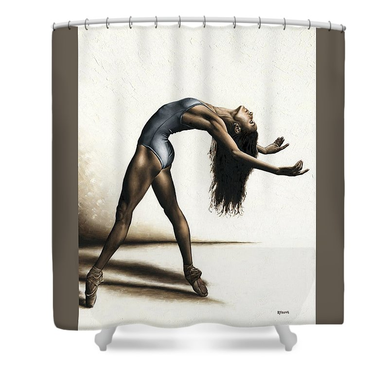 Dance Shower Curtain featuring the painting Invitation to Dance by Richard Young