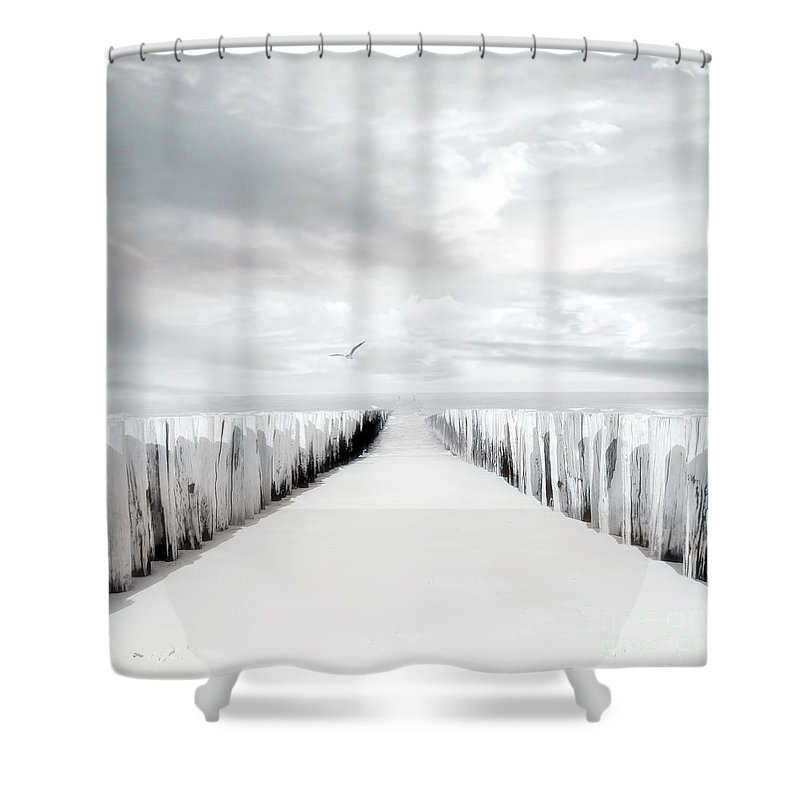 Beach Shower Curtain featuring the photograph Inviting by Jacky Gerritsen