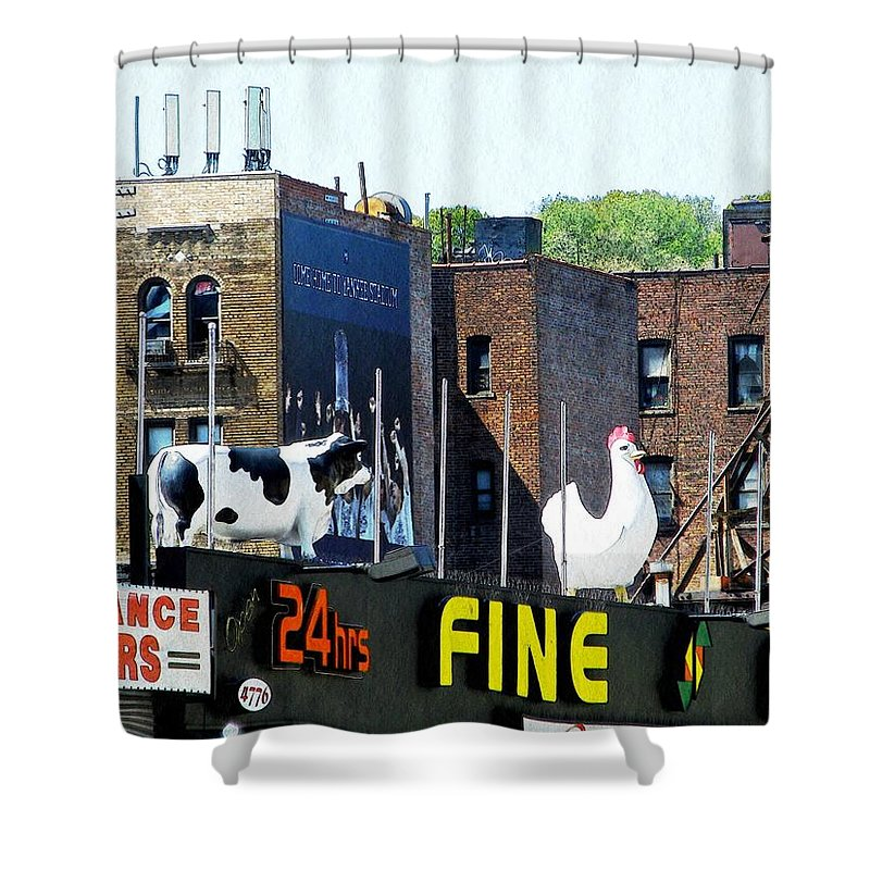 Statue Shower Curtain featuring the photograph Inwood Farm by Sarah Loft