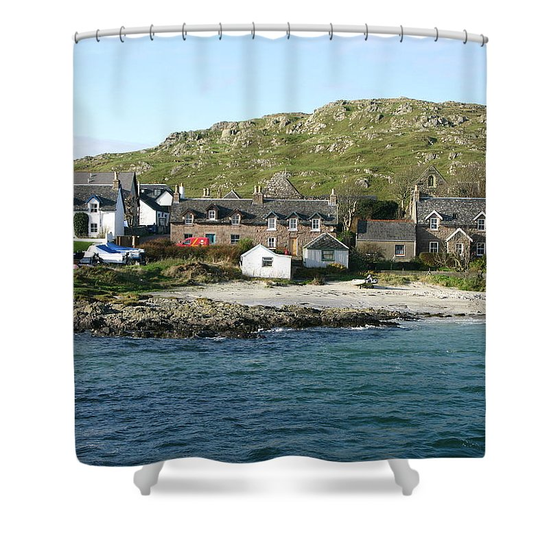 Iona Shower Curtain featuring the photograph Iona by Maria Joy