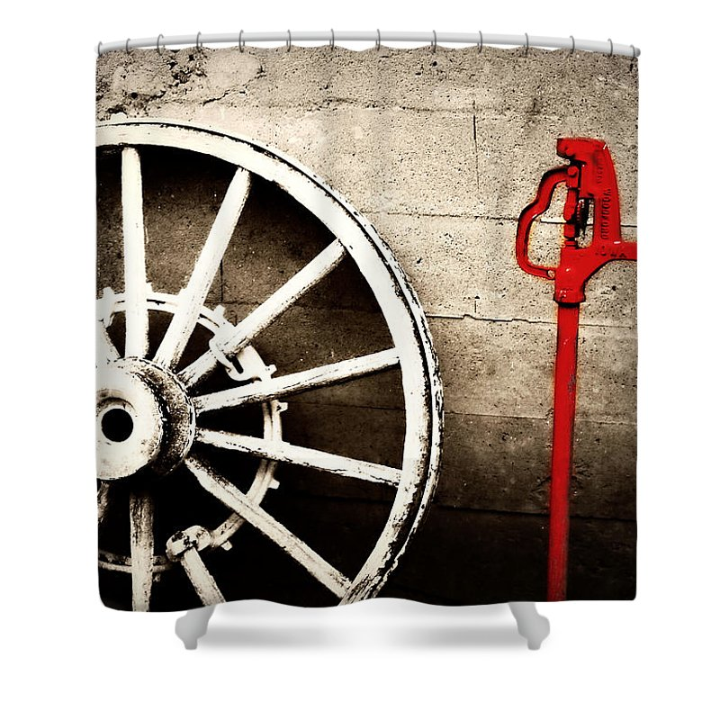 Barn Shower Curtain featuring the photograph Iowa Hydrant by Julie Hamilton