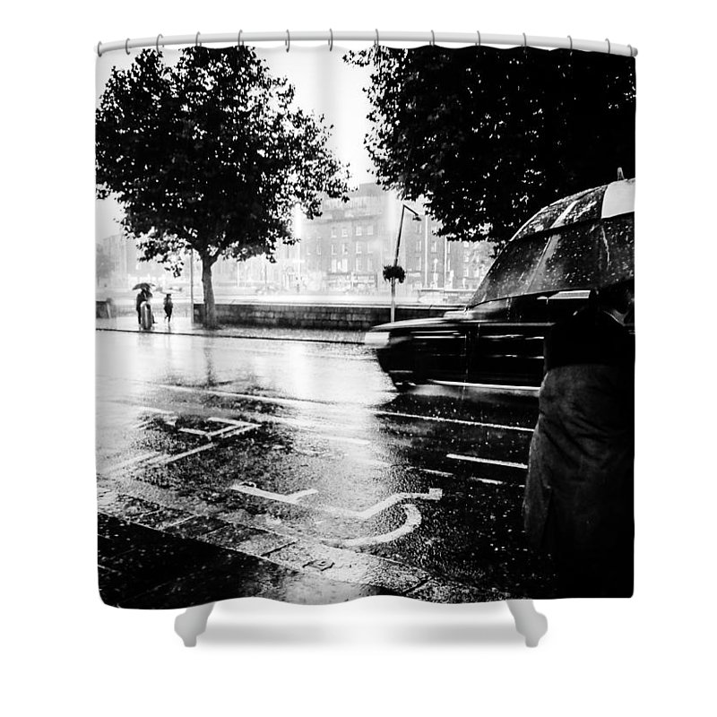 Water Shower Curtain featuring the photograph Ireland Rain by James Fitzpatrick