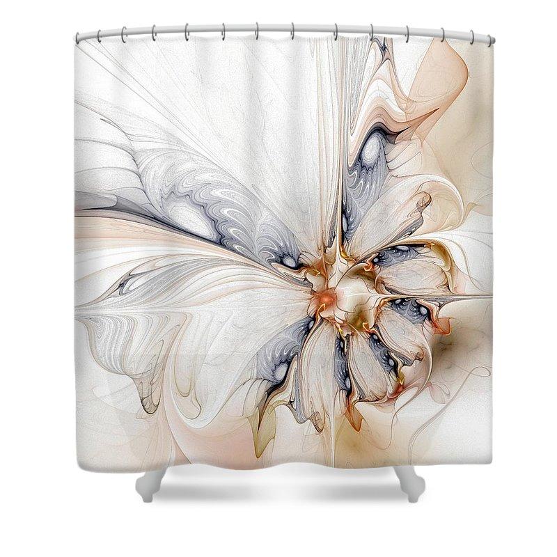 Digital Art Shower Curtain featuring the digital art Iris by Amanda Moore