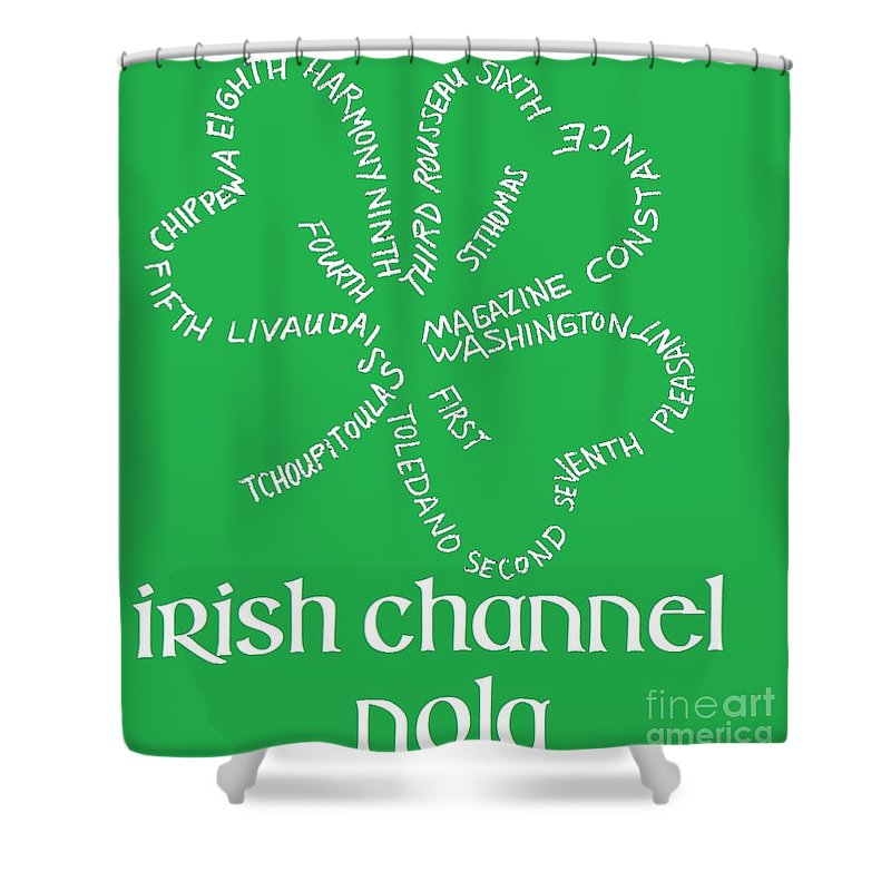 New Orleans Shower Curtain featuring the digital art Irish Channel Nola by Joe Noto