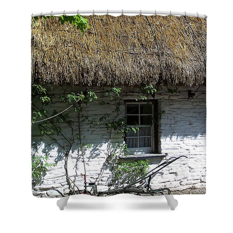 Irish Shower Curtain featuring the photograph Irish Farm Cottage Window County Cork Ireland by Teresa Mucha