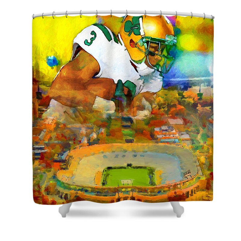 Irish Shower Curtain Featuring The Painting Four Points By John Farr