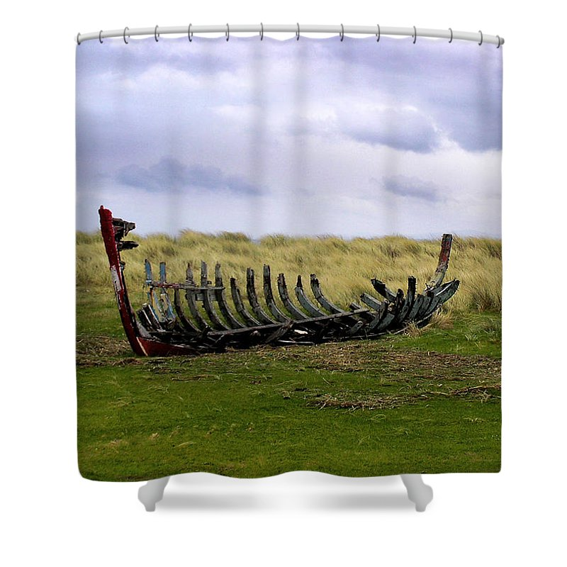 Ireland Shower Curtain featuring the photograph Irish Wreck by Charles Harden