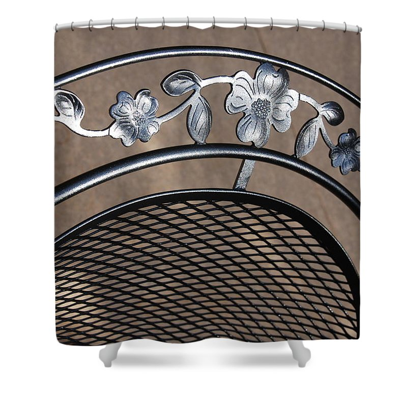 Photography Shower Curtain featuring the photograph Iron Art Work by Susanne Van Hulst