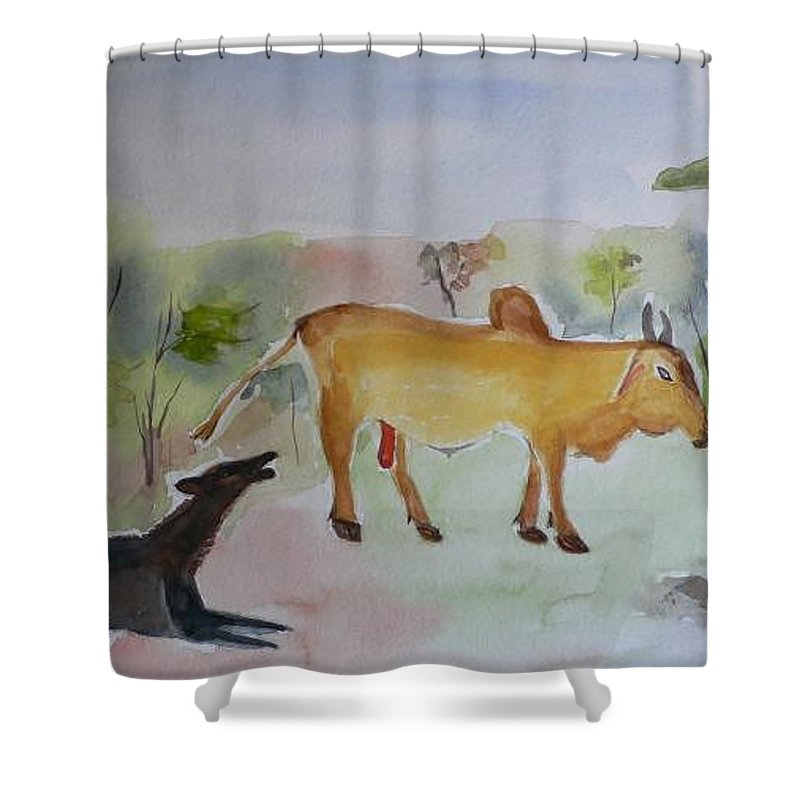 Irresistible Shower Curtain featuring the painting Irresistible by Geeta Biswas
