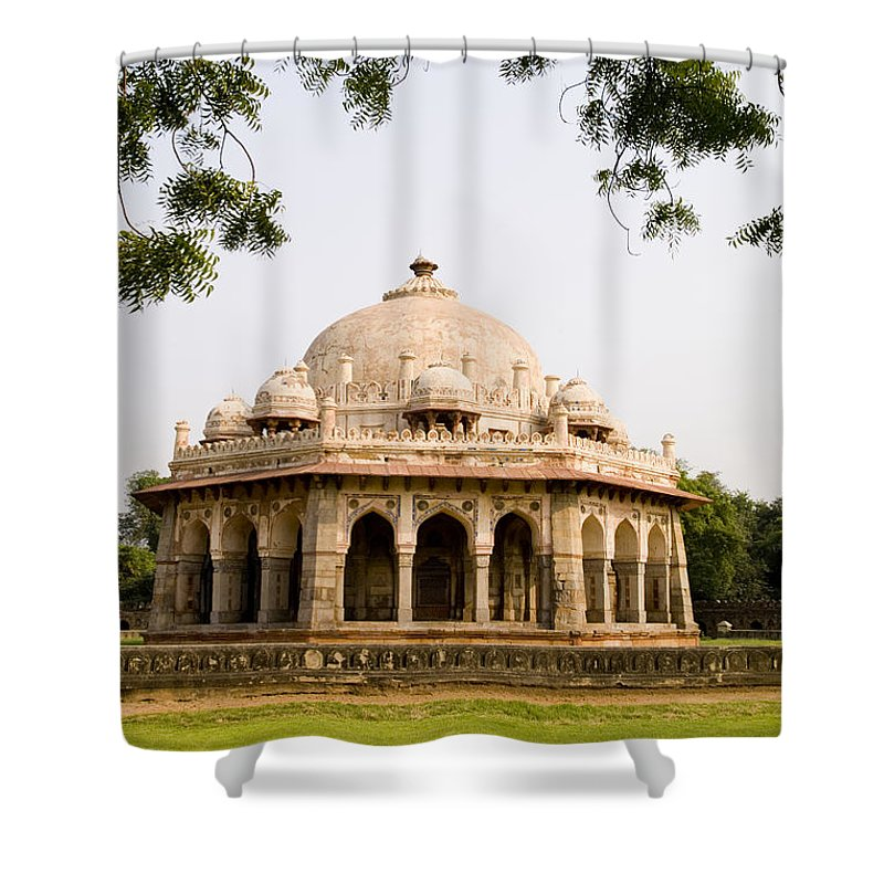 Ancient Shower Curtain featuring the photograph Isa Khan Tomb Burial Sites by Bill Bachmann - Printscapes