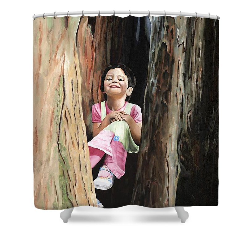 Girl Shower Curtain featuring the painting Isabella Of Kilkenny by Mary Rogers