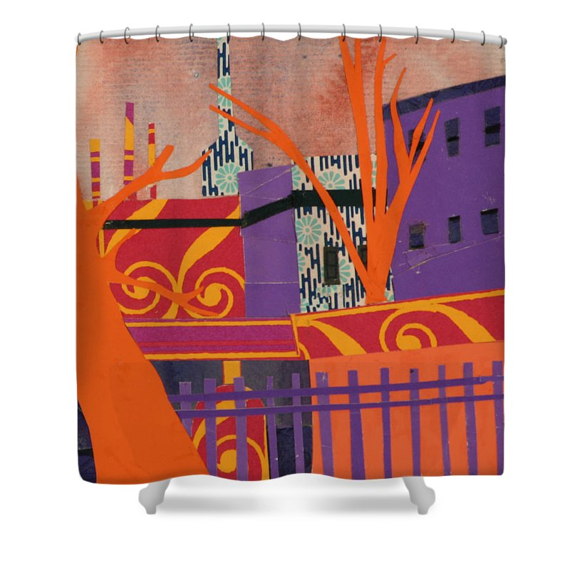 Boston Shower Curtain featuring the mixed media Isabella's Garden by Debra Bretton Robinson