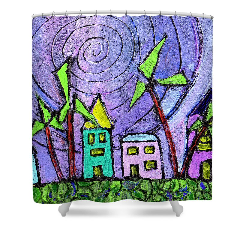 Island Shower Curtain featuring the painting Island Dreams by Wayne Potrafka