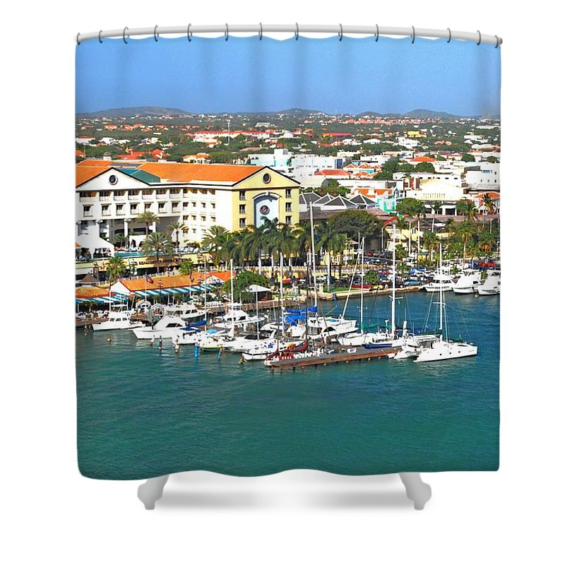 Aruba Shower Curtain featuring the photograph Island Harbor by Gary Wonning