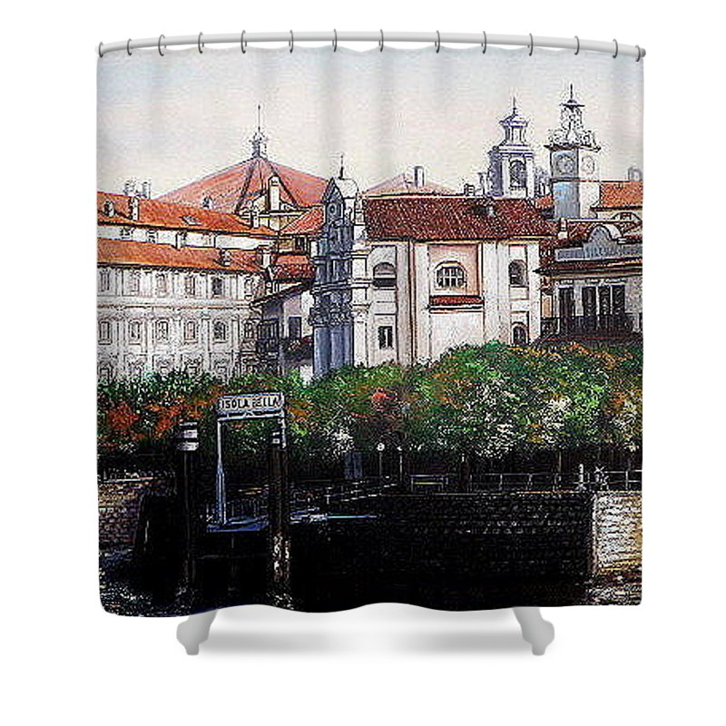 European Scenes Shower Curtain featuring the painting Isola Bella by I Joseph