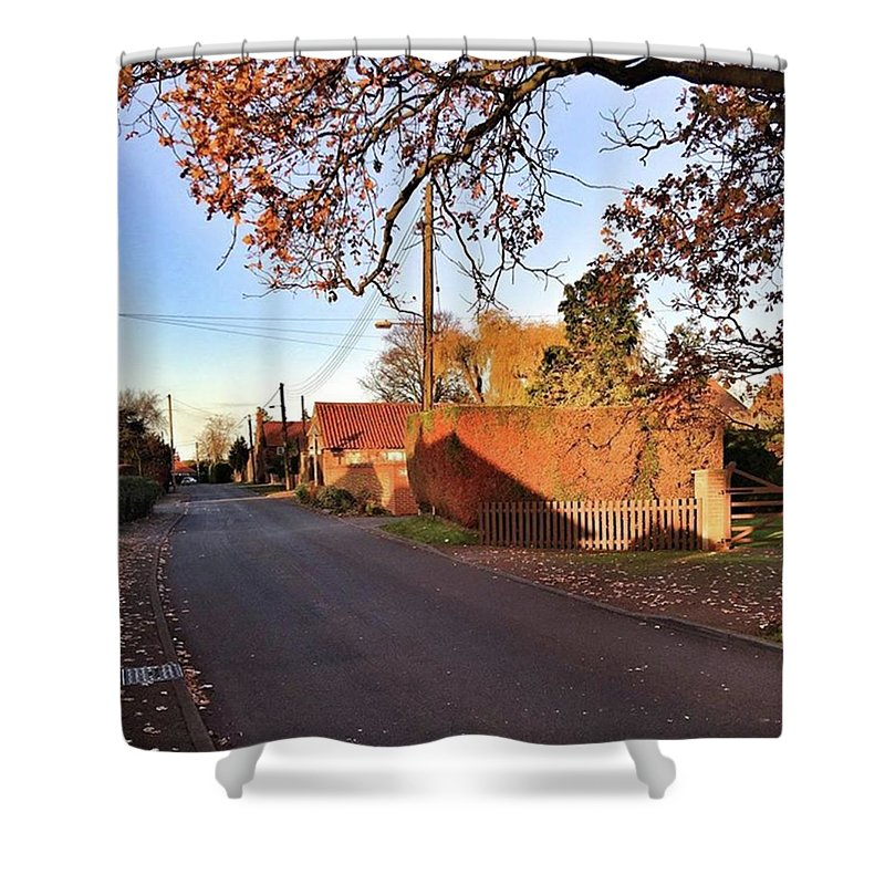 Kingslynn Shower Curtain featuring the photograph It Looks Like We've Found Our New Home by John Edwards
