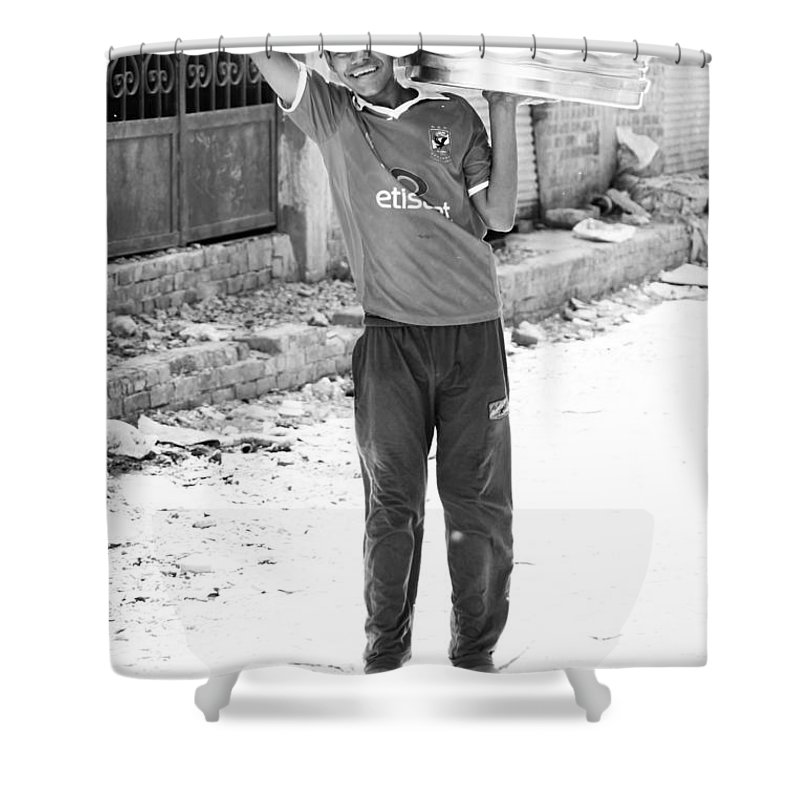 Hurghada Shower Curtain featuring the photograph It Sure Is Shiny by Jez C Self