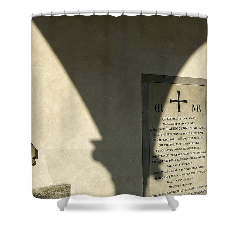 Arch Shower Curtain featuring the photograph Italy, Florence, Biblioteca Medicea by Keenpress