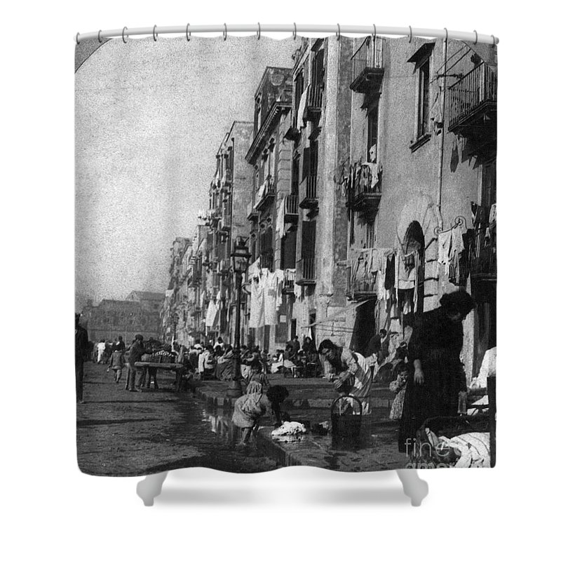 1904 Shower Curtain featuring the photograph Italy: Naples, C1904 by Granger