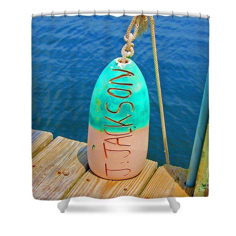 Water Shower Curtain featuring the photograph Its A Buoy by Debbi Granruth