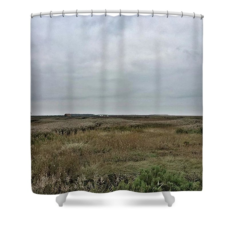 Natureonly Shower Curtain featuring the photograph It's A Grey Day In North Norfolk Today by John Edwards
