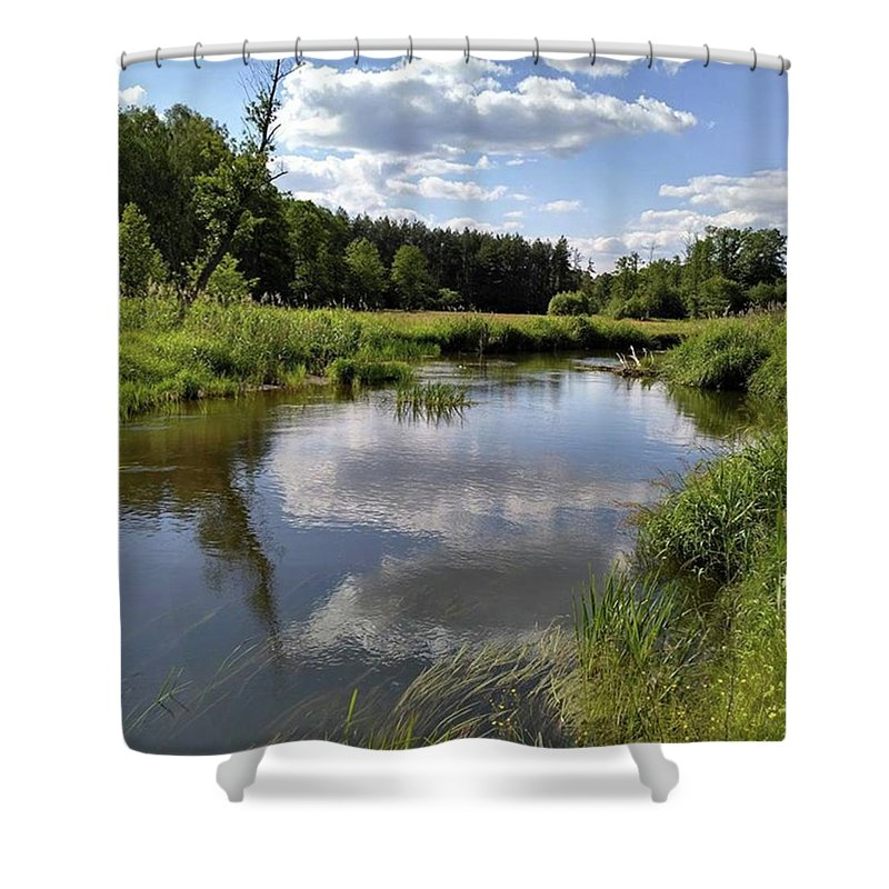 Poland Shower Curtain featuring the photograph It's So Calming Here In Odrzywol by Arletta Cwalina