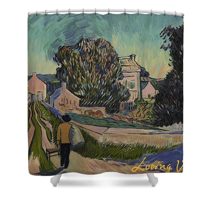 Shower Curtain featuring the painting I've Decided To Retrace The Path That Vincent Took With His Easel That Day by Carmen Belean