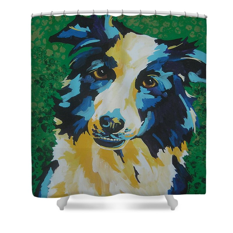Canine Shower Curtain featuring the painting Jack by Caroline Davis
