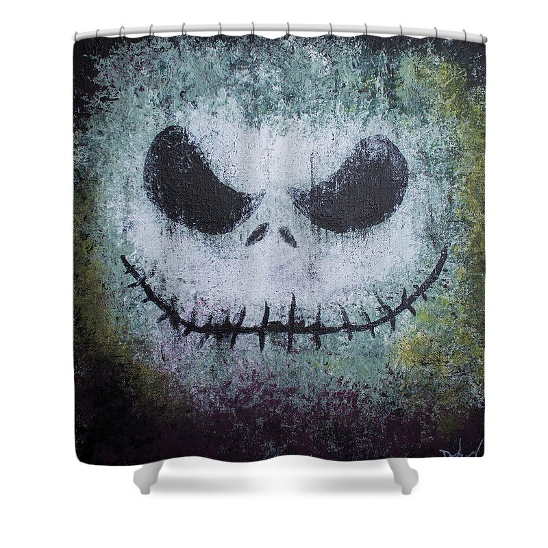 Jack Skellington Shower Curtain Featuring The Painting By Daniel Rodriguez