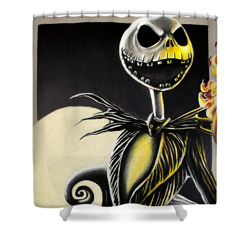 Jack Skellington Shower Curtain Featuring The Drawing
