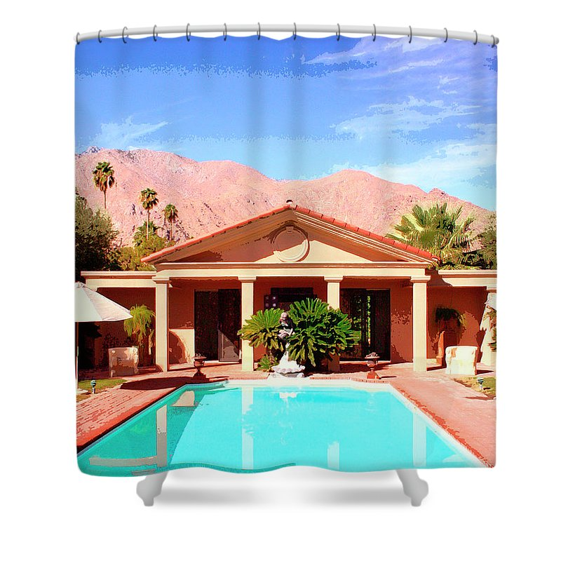 Jack Warner Estate Shower Curtain featuring the photograph Jack Warner Estate by William Dey