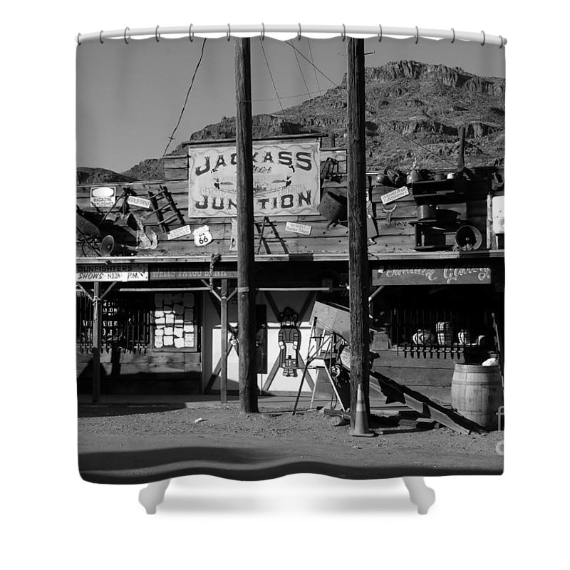 Arizona Shower Curtain featuring the photograph Jackass Junction by David Lee Thompson