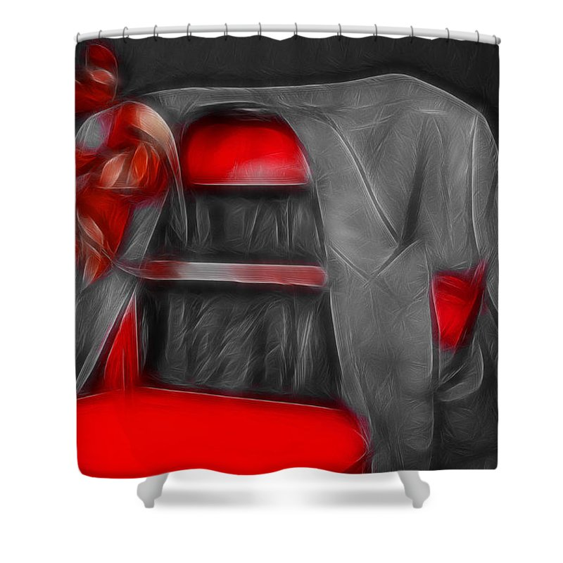 Jacket Shower Curtain featuring the photograph Jacket by Manfred Lutzius