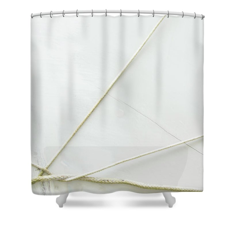 White Shower Curtain featuring the photograph Jacks by Dorothy Hilde