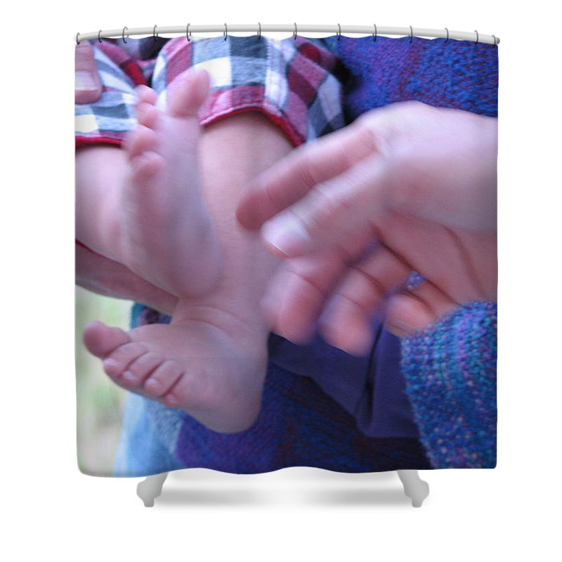 Feet Shower Curtain featuring the photograph Jack's Feet by Kelly Mezzapelle