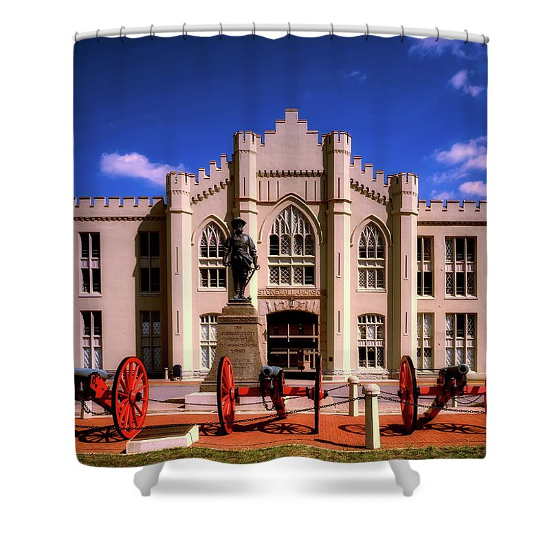 Virginia Military Institute Shower Curtain featuring the photograph Jackson Arch - V M I by Mountain Dreams