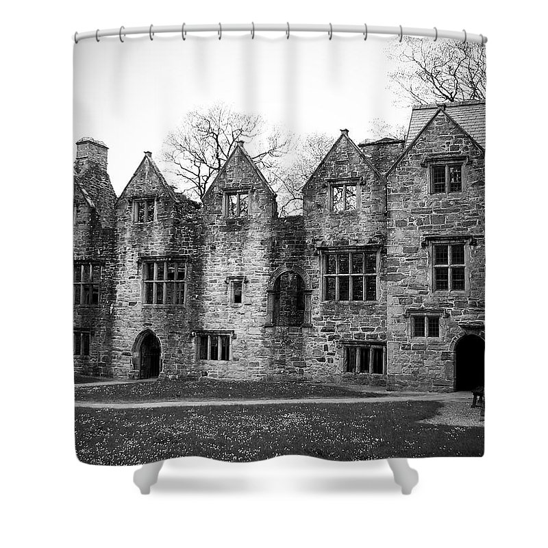 Irish Shower Curtain featuring the photograph Jacobean Wing At Donegal Castle Ireland by Teresa Mucha