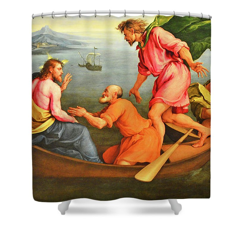 Jacopo Bassano Shower Curtain featuring the photograph Jacopo Bassano Fishes Miracle by Munir Alawi