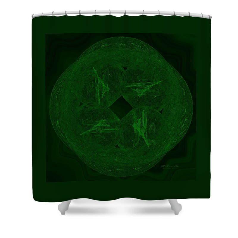 Abstract Shower Curtain featuring the digital art Jade by Diane Parnell