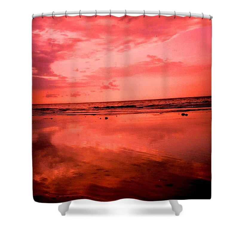 Sunset Shower Curtain featuring the photograph Jamaica Sunset by Ian MacDonald